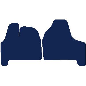 Citroen Dispatch Van 2007-2016 Van Mats (2 piece)