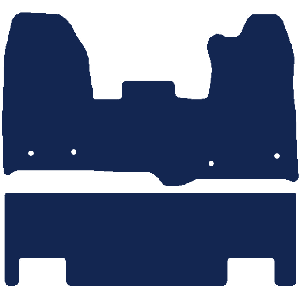 Ford Transit Custom Double Cab In Van 2015-2018 Van Mats (twin side door)