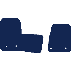 Ford Transit Custom Van 2019+ Van Mats (2 piece front, drivers side holes parallel)
