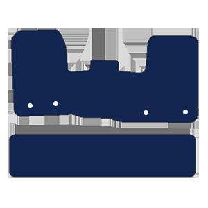 Ford Transit Custom Crew Cab Van 2019+ Van Mats (1 piece front, drivers side holes parallel)